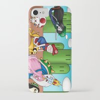 mario bros iPhone & iPod Cases featuring Mario Time (Adventure Bros) by DearSweetAru