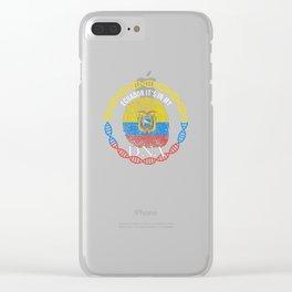 Ecuador Its In My DNA Clear iPhone Case