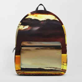 Sun going down Backpack