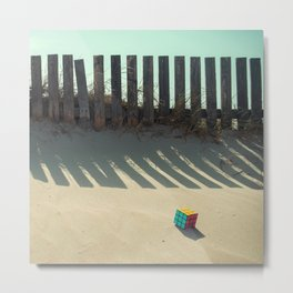 Rubik shading in the beach Metal Print