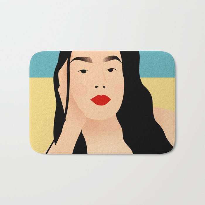 Portrait of a loved one - Beach series Bath Mat