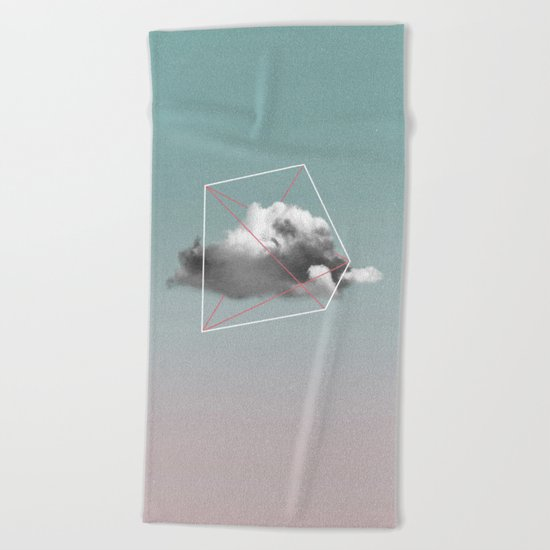 cloud storage Beach Towel