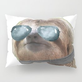 Sloth Aviator Glasses COLLAR Sloths In Clothes Pillow Sham