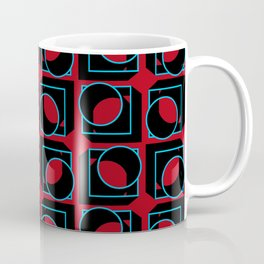 Tubes in Cubes on Red Coffee Mug
