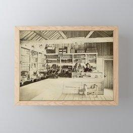 The General Store - Vintage Photo Framed Mini Art Print