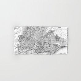 Vintage Map of Brookyln (1868) BW Hand & Bath Towel