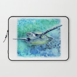 Swimming Turtle In Watercolor Laptop Sleeve