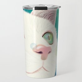 Odd-eyed White Cat Travel Mug