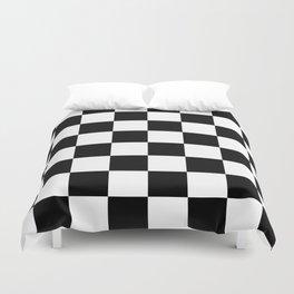 Contemporary Black & White Gingham Pattern Duvet Cover