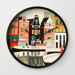 shapes houses of Amsterdam Wall Clock