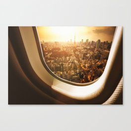 Aerial view of tokyo Canvas Print