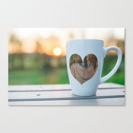 Sunrise and Coffee Canvas Print