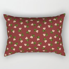 Jingle Balls, Christmas Holly and Testicles in Red Rectangular Pillow
