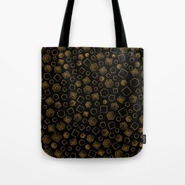 Polygons on Black background Tote Bag