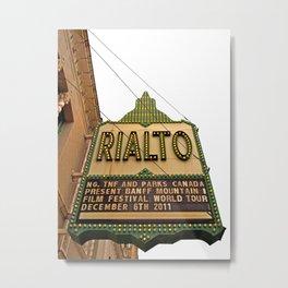 The Rialto Metal Print