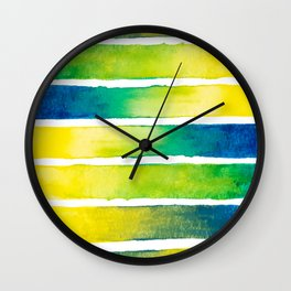 Tropical Earth Abstract Watercolor Wall Clock