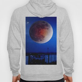 Small moon over the city. Hoody