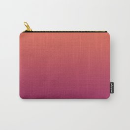 Pantone Living Coral & Vivacious Pink Gradient Ombre Blend Carry-All Pouch