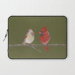 Pastel Cardinals Laptop Sleeve