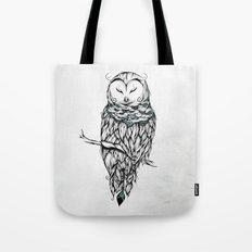 Poetic Snow Owl Tote Bag
