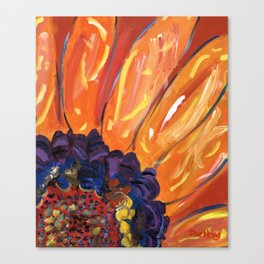 Sun Fire Sunflower Canvas Print
