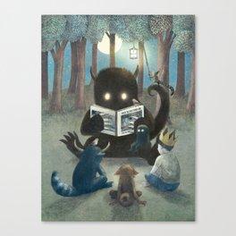 Reading Circle (colour option) Canvas Print