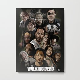 The Walking Dead Fan  Metal Print