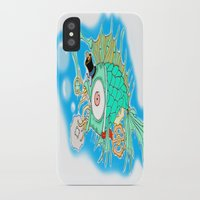 steam punk iPhone & iPod Cases featuring Whimsical Steam Punk Fish by J&C Creations
