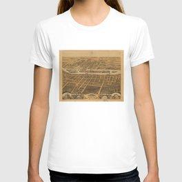 Bird's eye view of Batavia, Kane County, Illinois (1869) T-shirt