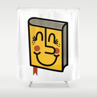 book Shower Curtains featuring Book by Landon Sheely