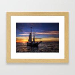 Sailing Home Framed Art Print