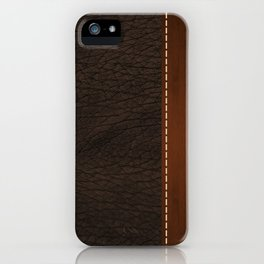 Brown leather look #1 iPhone Case