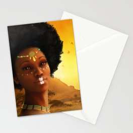 African Princess Stationery Cards