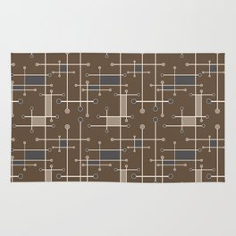 Intersecting Lines in Brown, Tan and Gray Rug