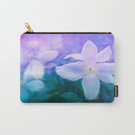 Indigo Flowers Carry-All Pouch
