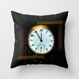 Time passes like soap bubbles Throw Pillow