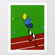 Hurdler / athlete Art Print