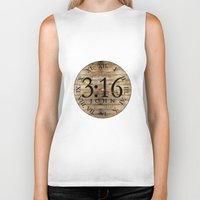 bible verses Biker Tanks featuring LOST VERSES FOUND by Miriam Hahn