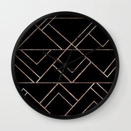 Art Deco Geo Glam #2 #geometric #decor #art #society6 Wall Clock