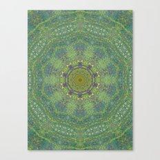 liquid green mandala? Canvas Print