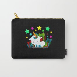 Unicorn Christmas Gifts Colorful Stars Carry-All Pouch