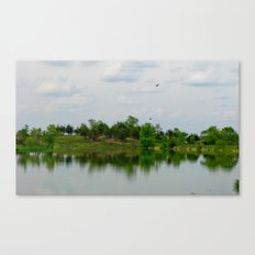 Lake on the Prairie Canvas Print