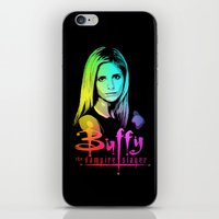 buffy iPhone & iPod Skins featuring Buffy Multicoloured by Paul Elder