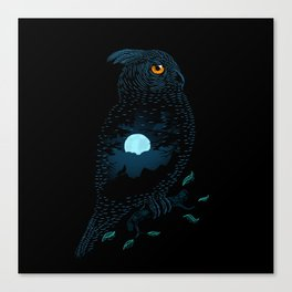 The Owl and the Forest Canvas Print