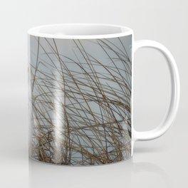 snowy owl in sand dunes Coffee Mug