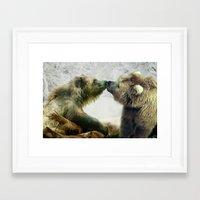 bears Framed Art Prints featuring Bears by Julie Hoddinott