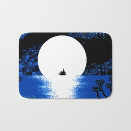 Gazing  the  Moon  at  the  Celestial  Seashore Bath Mat