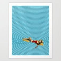 minima Online Pool. Art Print