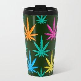 Colorful Marijuana weed Travel Mug