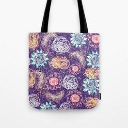 Purple Galaxy Dreams Tote Bag